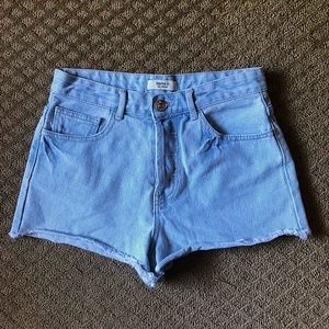 Forever 21 High Rise Light Wash Jean Shorts sz 27